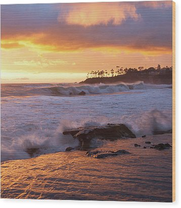 Wood Print featuring the photograph Sun Kissed Coast by Cliff Wassmann