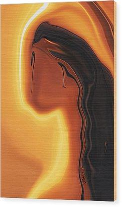 Wood Print featuring the digital art Sun-kissed by Rabi Khan