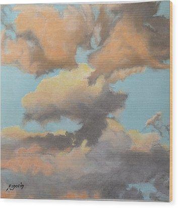 Sun Kissed Sky Wood Print by Harvey Rogosin
