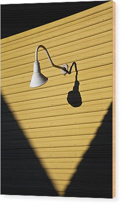 Sun Lamp Wood Print
