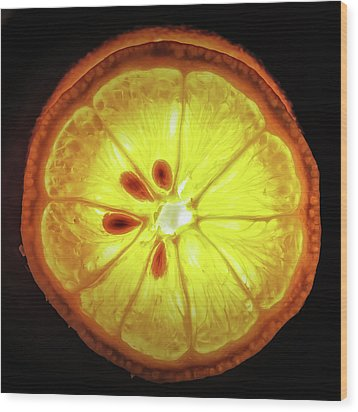 Sun Lemon Wood Print