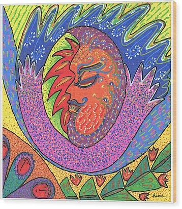 Sun Man Wood Print by Sharon Nishihara