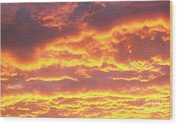 Sun On The Clouds Wood Print by Marsha Heiken