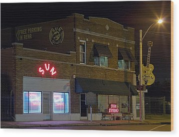 Sun Records Studio The Birthplace Wood Print by Everett