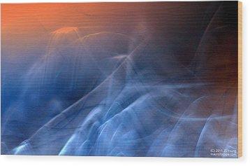 Sun Rise Sun Set Above Wood Print by JCYoung MacroXscape