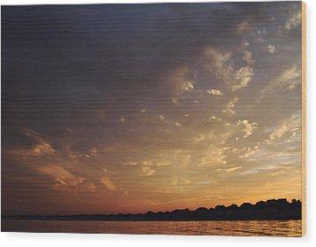 Sun Settles On Connecticut Wood Print by Karol Livote