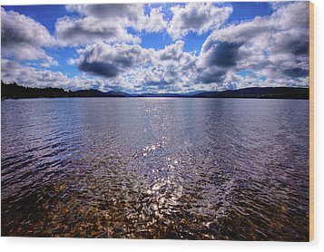 Wood Print featuring the photograph Sun Shining Over Palmer Point by David Patterson
