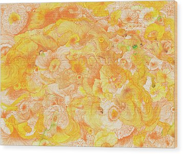 Sun - #ss16dw022 Wood Print by Satomi Sugimoto