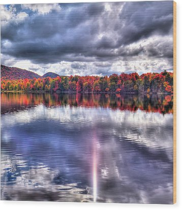 Wood Print featuring the photograph Sun Streaks On West Lake by David Patterson