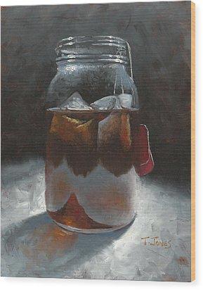 Sun Tea Wood Print by Timothy Jones