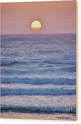 Sun To Sea Wood Print