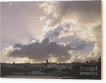 Wood Print featuring the photograph Sunbeams Over Church In Color by Nicholas Burningham