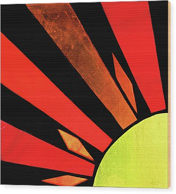 Wood Print featuring the photograph Sunburst by Kristin Elmquist
