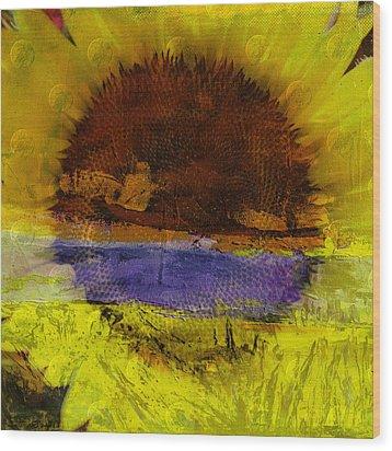 Sunburst Wood Print by Mary Ward