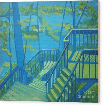 Suncook Stairwell Wood Print by Debra Bretton Robinson