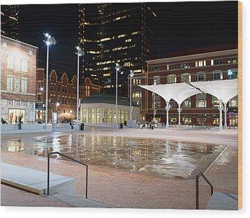 Sundance Square Fort Worth 3 Wood Print