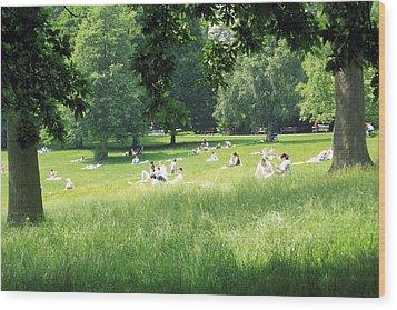 Sunday Afternoon At Waterlow Park Wood Print by Helga Novelli