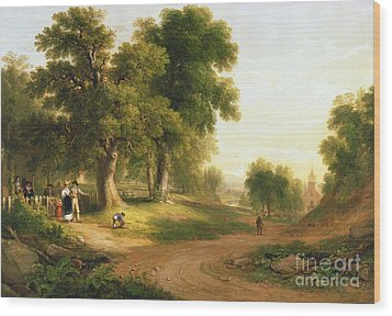 Sunday Morning Wood Print by Asher Brown Durand