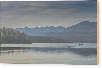 Sunday Morning Fishing Wood Print by Chris Lord