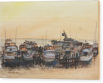 Sundown At Destin Wood Print