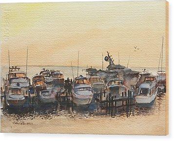 Sundown At Destin Wood Print