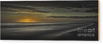 Sundown At Santa Rosa Beach Wood Print by Walt Foegelle