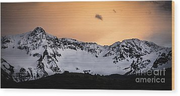 Wood Print featuring the photograph Sundown At Sneffels Range by The Forests Edge Photography - Diane Sandoval