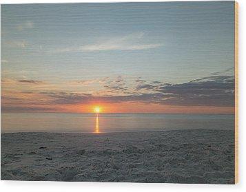 Sundown Wood Print by Christopher L Thomley