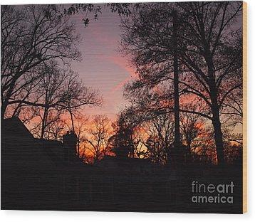 Sundown Wood Print by Nancy Kane Chapman