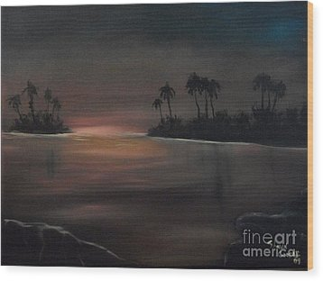 Sundown Wood Print by Shawn Cooper