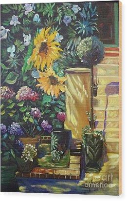 Sunflower Aloha Wood Print