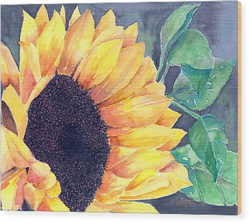 Sunflower Wood Print by Arline Wagner