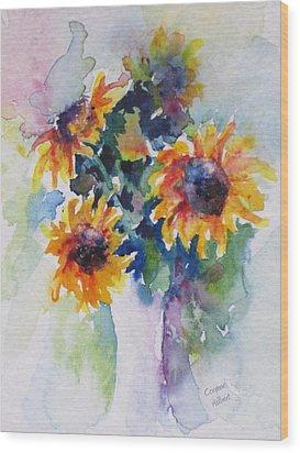 Sunflower Bouquet Wood Print by Corynne Hilbert