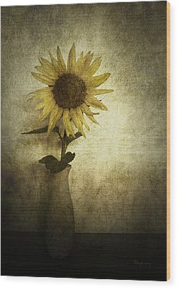 Sunflower Wood Print by Cynthia Lassiter