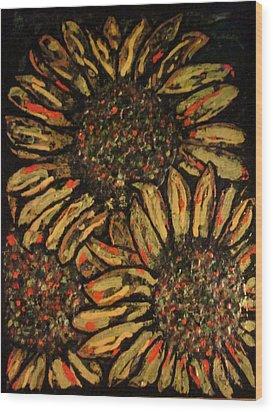 Sunflower Wood Print by David Sutter