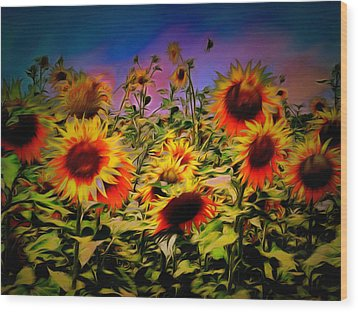 Sunflower Breeze Wood Print by Dorothy Berry-Lound