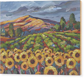 Sunflower Ranch Wood Print