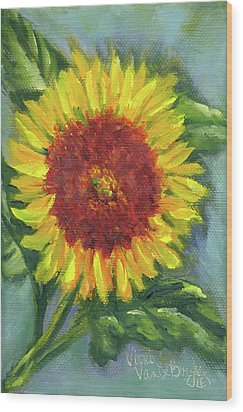 Sunflower Seed Packet Wood Print