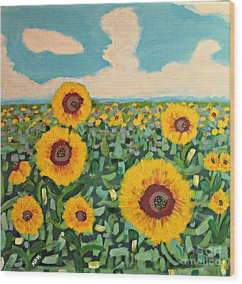 Sunflower Serendipity Wood Print