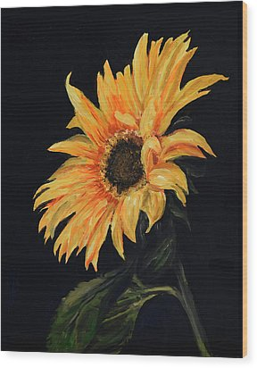 Sunflower Vii Wood Print