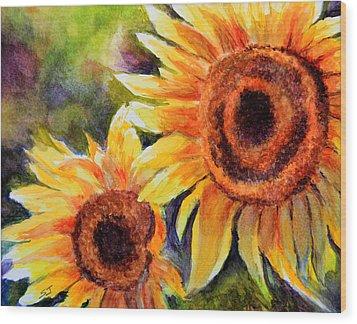 Sunflowers 2 Wood Print by Susan Jenkins