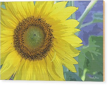 Sunflowers All Around Wood Print
