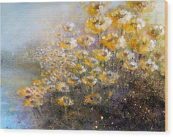 Sunflowers Wood Print by Andrew King