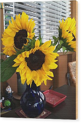 Sunflowers Wood Print by Molly Williams