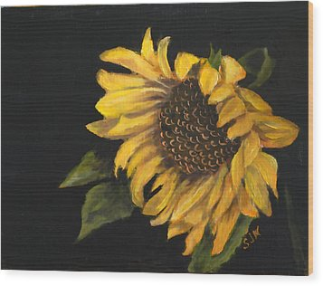 Sunflowervi Wood Print