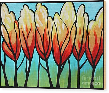 Sunglow  Wood Print by Elizabeth Robinette Tyndall