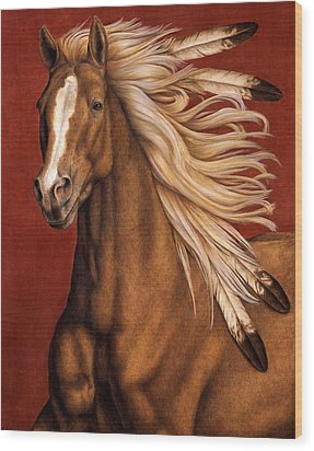 Wood Print featuring the painting Sunhorse by Pat Erickson