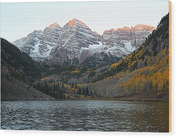 First Light Wood Print by Eric Glaser