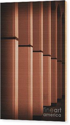 Sunkissed Pillars Wood Print by Stephen Melia