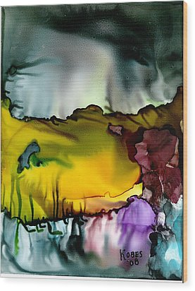 Sunless Sea Wood Print by Susan Kubes
